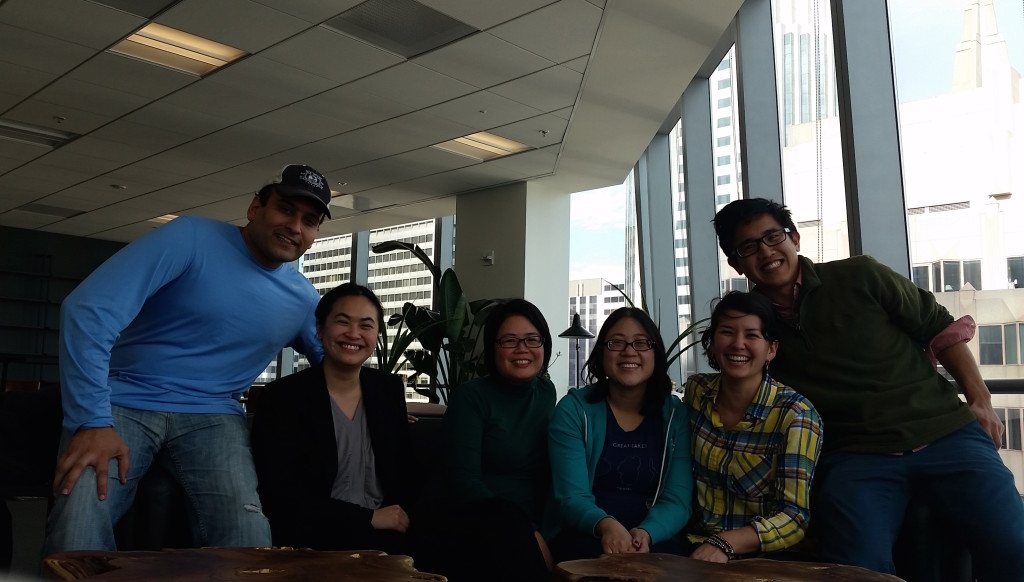From left to right: Ravi Kapur, Donna Tam, Ouynh Tran, Christine Hsu, Lauren Kawana and Kevin Lee.
